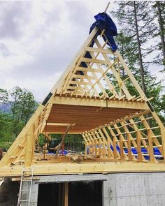 A-Frame Cabins Archives - Rustic Design House Deck, Tiny House Cabin, Tiny House Plans, Cabin Homes, Log Homes, A Frame Cabin Plans, Build A Frame, Cabin Design, Small House Design