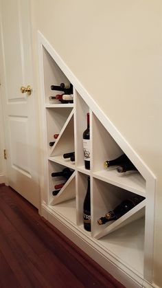 basement stairs trends Awesome Shoe Rack Ideas On Stairs For You Stair Storage, Wine Storage, Basement Storage, Storage Room, Cabinet Under Stairs, Shoe Storage Under Stairs, Under Stairs Wine Cellar, Basement Stairs, Basement Bedrooms