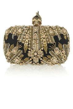 14 head-turning gold clutches for holiday parties and beyond: Alexander McQueen