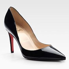 Christian-Louboutin-Black-patent-leather-Pigalle-pumps