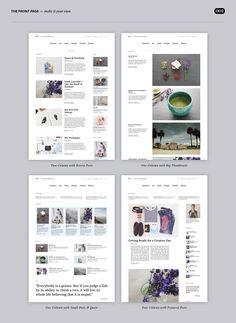 Die Zuki Startseite mit jeweils unterschiedlichen Artikel-Widgets angelegt.