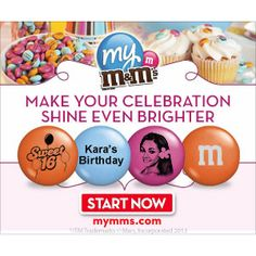 Personalized M&Ms : 30% off 5LB Bags http://www.mybargainbuddy.com/personalized-mms-40-off-5lb-bags