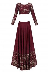 Maroon and Gold Threadwork and Sequins Lehenga Set #asthanarang #shopnow #ppus #happyshopping