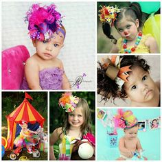 Aww love the bows on the head... i would love to have the first pic of outfit for my niece.  hehe