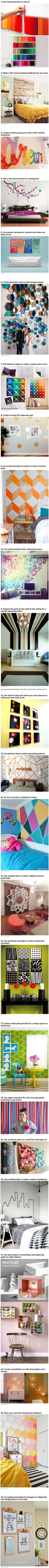 We have rounded up some cool and geeky ways to transform your walls.