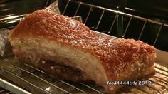 (HD) RECIPE: Home Made Chinese Roasted Pork Belly 脆皮燒肉. NOTE For those who are familiar with Chinese Dim Sum houses and markets, this is the real thing. Very easy to follow and good. The guy that posted also has a video of him eating this  and it pops out of the screen, lol