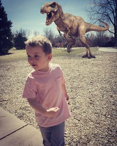 """WTF my son is 5! Happiest of birthdays  Part I """"The Totally True Adventures of Atticus Carter""""  #birthday #candid #dinosaur #haterswillsayitsphotoshop"""