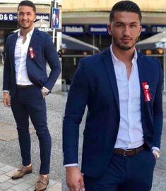 Navy Blue Men Wedding Suits Groom Tuxedos Groom (Jacket +Pants+Tie ) Business Blazers plus size Wedding Men, Wedding Suits, Tuxedo Wedding, Wedding Party Dresses, Wedding Events, Wedding Tuxedos, Plus Size Suits, Cheap Suits, Groom Tuxedo