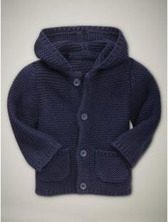 Teddy - navy knit hooded sweater for over fox bodysuit  -- Tim can wear a navy plaid J. Crew shirt he already has.