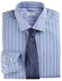 Eton® York Twill Stripe Dress Shirt