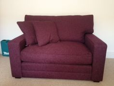 Bespoke snuggler chair cm wide x depth 97 cm) in Houles of Paris Boston fabric. Sofa Bed, Couch, Bespoke Sofas, Traditional Sofa, Small Sofa, Cushion Filling, Cribs, Plum, Love Seat
