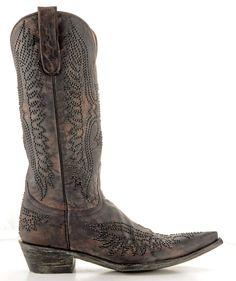 Womens Old Gringo Eagle Swarovski Boots Black #L443-4