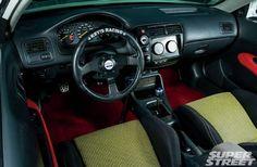 Daniel Stoicescu's K24 2000 Honda Civic EJ (EK) hatch interior