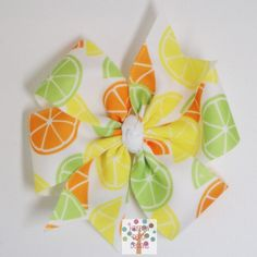 Free USA Shipping Over 20  Citrus Fruits Pinwheel by HairbowDepot, $3.50