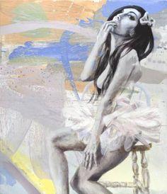 Lost Diva on a Divan Painting Ballerina, Saatchi Art, Oil On Canvas, Original Paintings, Artist, Anime, Fictional Characters, Painting Art, Ballet Flat