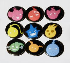 Soul Eater Charachter Souls 1 inch pinback button (choose one)