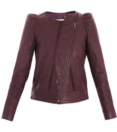 Collarless Leather Jacket  by Vanessa Bruno. best color #matchesfashion