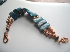 Southwest Cool...crazy lace agate, copper, bracelet by ageratum on Etsy https://www.etsy.com/listing/198457748/southwest-coolcrazy-lace-agate-copper