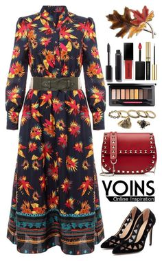 """""""Yoins (09)"""" by itsybitsy62 ❤ liked on Polyvore featuring Valentino, MAC Cosmetics, Smashbox, Chanel, Anne Klein, yoins, yoinscollection and loveyoins"""
