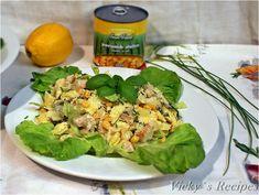 Salată cu paste, piept de pui și porumb – Vicky's Recipes Meat, Chicken, Recipes, Food, Salads, Essen, Meals, Ripped Recipes, Eten