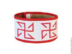 Купить Браслет из крапивы с вышивкой Солонь - крапива, крапива волокна, крапива двудомная, крапива жгучая