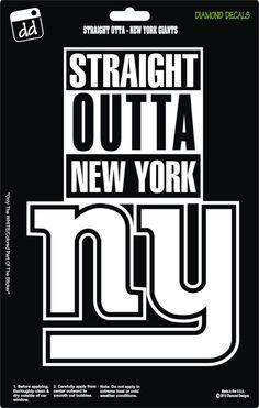 Straight Outta New York Giants NFL Football Logo Decal Vinyl Sticker Car Truck Window Laptop by DiamondDecalz on Ebay