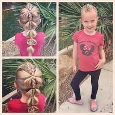 Happy Monday! We did a fun and quick braided bubble braid today! #tinzbobenz #toddlerhair #toddlerhairstyles #princesshair #bubblebraid #hairideas #hairstyle #hairinspiration #braidideas #braidsforgirls #braid #braidsforlittlegirls #braidingmommies #instahair #instabraid #instakids #instacute #instadisney #disneyfan #disneyside #mickeyears #kidshair #kidstyle #kidsootd #minniemouse #mickeymouse #readyforschool #schoolhair