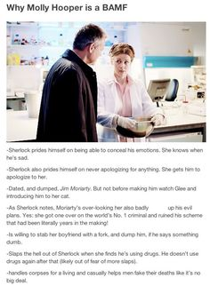 anyone who says that molly hooper isn't a freaking amazing character and person can literally fight me