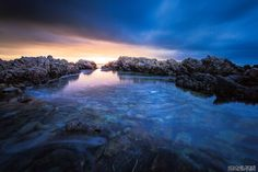 The sun setting on a cold night along the Walkerbay coast. Cold Night, Beaches, Coast, River, Sea, Sunset, Photography, Outdoor, Sunsets