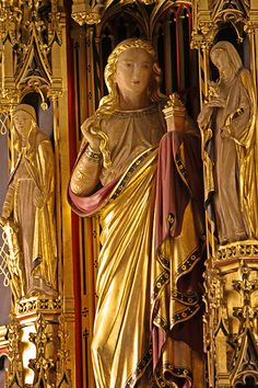 Estatue of St Mary Magdalene  from Comper's Lady chapel reredos in All Saints, Margaret Street. By Lawrence OPAlabaster