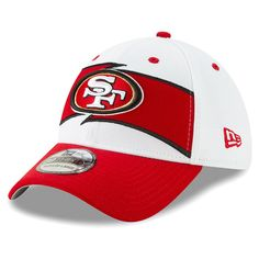 Men s San Francisco 49ers New Era White Scarlet Thanksgiving 39THIRTY Flex  Hat a1d821e1780f