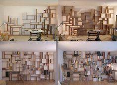Wall of Shelving by Studiomama