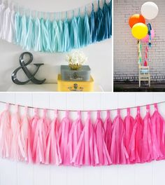 [Visit to Buy] 25cm 10 inch tassels Tissue Paper Flowers Garland Banner bunting flag Party Decor Craft For Wedding Decoration etc #Advertisement