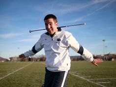 Matt Freeman is six times a world champion twirler and has been featured with the Penn State band for the last 3 1/ 2 years. (DAVID SWANSON / Staff Photographer)