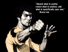 """""""Absorb what is useful, reject what is useless, add what is specifically your own."""" - Bruce Lee #personalbranding"""