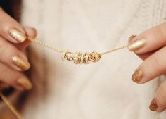 gold, necklace, and nails image