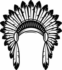 the hat of the Indian tribal chief – Amee House Native American Patterns, Native American Symbols, American Indians, Indian Skull Tattoos, Indian Feathers, Feather Tattoos, Le Far West, Silhouette Projects, Headdress
