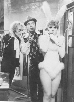 ladiesofthe70s:  Bernadette Peters (with Marty Feldman and Dom DeLuise) in Mel Brooks' Silent Movie (1976)