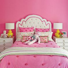 Hot Pink Bedroom - Bright and Colorful Rooms - Coastal Living