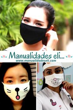 Easy Face Masks, Diy Face Mask, Mouth Mask Design, Sewing Crafts, Sewing Projects, Tapas, Diy Crafts Hacks, Tips & Tricks, Making Faces