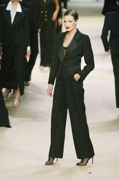 Yves Saint Laurent at Couture Spring 2002