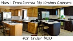 Find out how I transformed my kitchen cabinets from old and dated to modern and fresh with the Rustoleum Cabinet Transformations Kit all for under $100. Read...