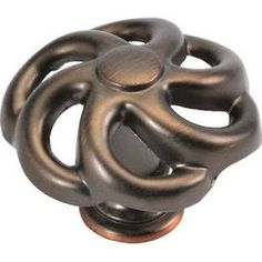 """51898-9018 Refined Bronze Iron 1 1/2"""" Floral Cabinet Knobs Pulls Belwith Keeler"""