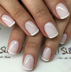 50 super french tip nails to bring another dimension to your manicure - Nageldesign - Nail Art - Nagellack - Nail Polish - Nailart - Nails - Manicure Colors, Manicure Y Pedicure, Nail Polish Colors, French Pedicure, Color Nails, Pedicures, Manicure Ideas, Pink Pedicure, Pink French Manicure