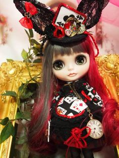 custom blythe-usagi clock-rinkya-japan