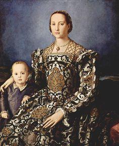 Agnolo Bronzino - Eleonora di Toledo con il figlio Giovanni - 1545 - Firenze - Galleria degli Uffizi