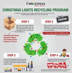 Have broken lights youd like to recycle? Our Christmas lights recycling program is continuing for Visit us at (link in bio). Best Cleaning Products, Cleaning Hacks, Christmas Lights, Christmas Ornaments, Toys For Tots, Recycling Programs, Green Cleaning, Small Boxes, Repurpose
