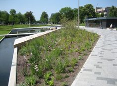 CATHARINA AMALIA PARK APELDOORN (NL) OKRA's plan was to capture as much green space as possible by reducing infrastructure and maximising planting. The result is a green city park that evokes an artificial image of the Veluwe streams. The Grift, a valuable stream, is once again brought above ground and led through the design of the park. The combination of underground parking, park and water is an example of how urban space can be transformed to a meaningful place.