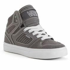 Vans Allred High Top Leather Skate Shoes Boys Size 3 Youth Skateboard Sneakers  #VANS #skateshoes
