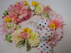 Wreath with Fabric Ribbon